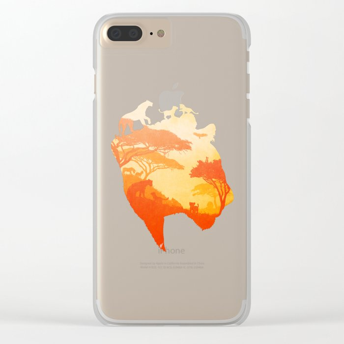 The Heart of a Lioness Clear iPhone Case