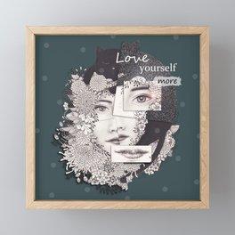LOVE Yourself more Framed Mini Art Print