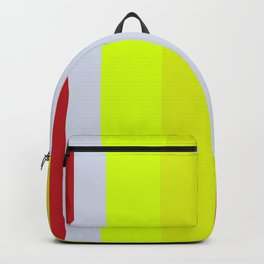 Striped Color BROWN BLUE GREEN Backpack