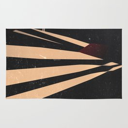 Vintage Film Lines Abstract Rug