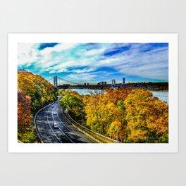 Fall along the Hudson Art Print