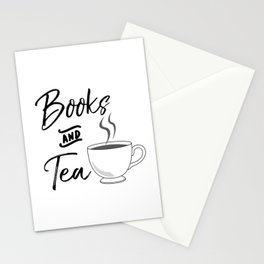 Books & Tea Stationery Cards