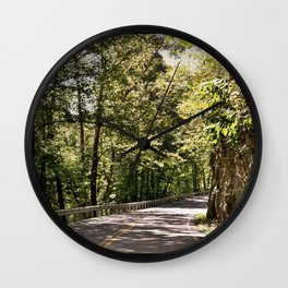 Mountain Highway Wall Clock