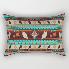 Boho animals   Autumn owl sunset Rectangular Pillow