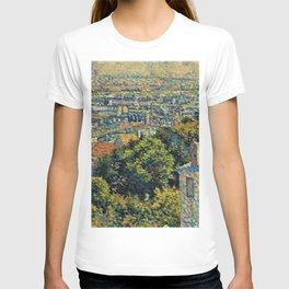 Hill of Montmartre overlooking Paris by Maximilian Luce T-shirt