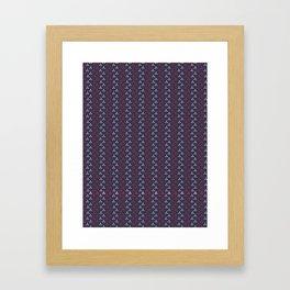 Blue Purple and Pink Petal Stripes Seamless Framed Art Print