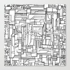 Electropattern(B&W) Canvas Print