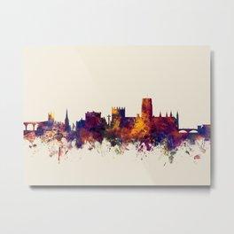 Durham England Skyline Cityscape Metal Print