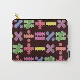Seamless Colorful Abstract Mathematical Symbols Pattern II Carry-All Pouch