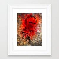 quentin tarantino Framed Art Prints featuring Quentin by Rabassa