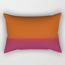 Gradient - Orange and Red Hue Rectangular Pillow