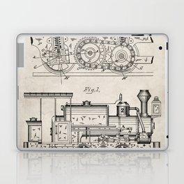Steam Train Patent - Steam Locomotive Art - Antique Laptop & iPad Skin
