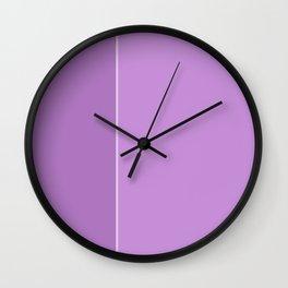 Purple Lines Wall Clock