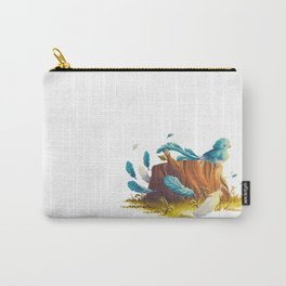 Bird in the wind Carry-All Pouch