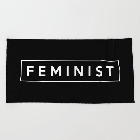 feminist. Beach Towel