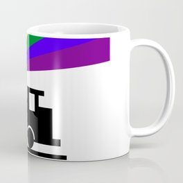 Rainbow Train Coffee Mug