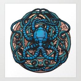 Mechanical Cephalopod Art Print