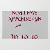 die hard Area & Throw Rugs featuring Die hard: Now I have a machine gun Ho-Ho-Ho by dutyfreak