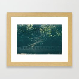On the way to the river Framed Art Print