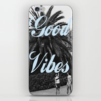good vibes iPhone & iPod Skins featuring good vibes by Hannah
