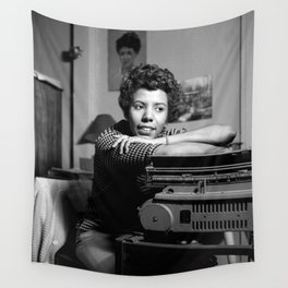 Lorraine Hansberry - Black Culture - Black History Wall Tapestry