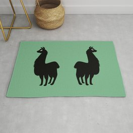 Angry Animals: llama Rug