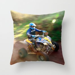 ATV offroad racing Throw Pillow