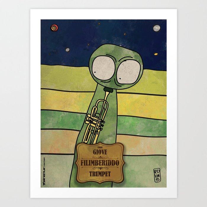 Filiberiddo from Jupiter (Trumpet) Art Print