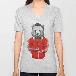 bear coach Unisex V-Neck