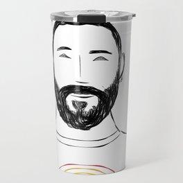 Beard Boy Colour Splash 12 Travel Mug