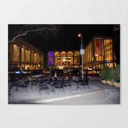 Dante Park and Lincoln Center Canvas Print