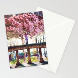 Abandoned Tree in an Abandoned Warehouse Stationery Cards