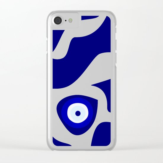Evil Eye Lava Pattern Clear iPhone Case
