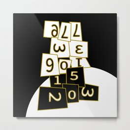 All we have is now (its all in the numbers) Metal Print