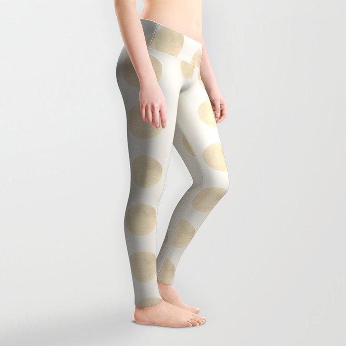 Gold Polka Dots Leggings