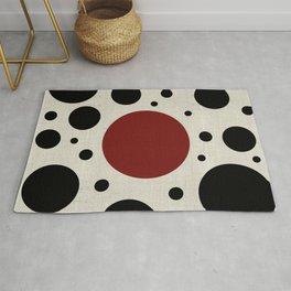 """Abstract Japanese Cow"" Rug"