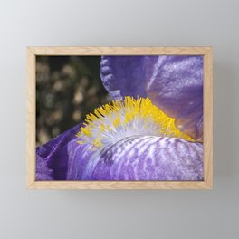 Yellow Flames Framed Mini Art Print