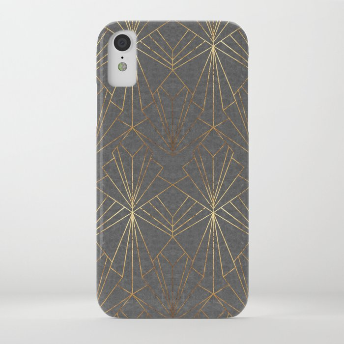 Art Deco in Gold & Grey iPhone Case