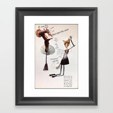 a string of words Framed Art Print