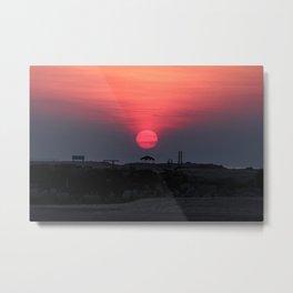Cloudy sunrise at the Miramar beach. Metal Print