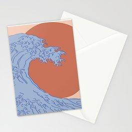 Minimalist Kanagawa Stationery Cards