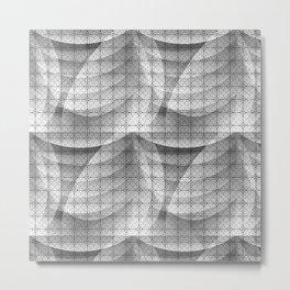 Grey shapes pattern Metal Print