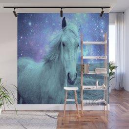 Celestial Dreams Horse Periwinkle Lavender Aqua Wall Mural