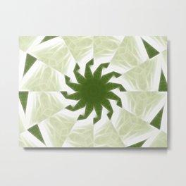 Green White Kaleidoscope Art 1 Metal Print