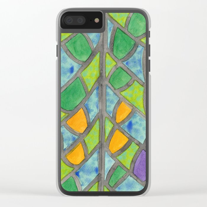 Butterfly Wing Pattern Clear iPhone Case