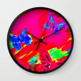Float like a Butterfly (butterflies in the garden) Wall Clock