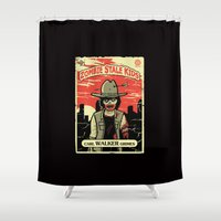 grimes Shower Curtains featuring Walker Grimes by Stationjack