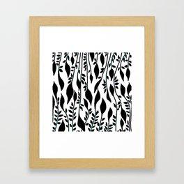 Rain of leaves Framed Art Print