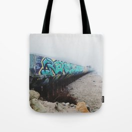 Beach Graffiti Tote Bag