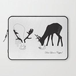 Deer love a Cuppa! Deer products, woodland illustration, animal lovers, deer gifts, Laptop Sleeve
